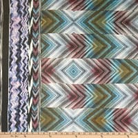 Fabric Merchants Silk Chiffon Large Diamond Print Blue/Berry