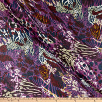 Fabric Merchants Silk Chiffon Abstract Plum