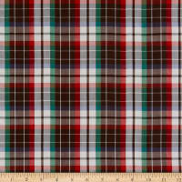 Silk Plaid Voile Brown/Multi Color