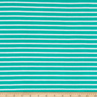 Fabric Merchants Liverpool Double Knit Thin Stripe Mint/Ivory