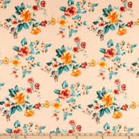 Fabric Merchants ITY Jersey Knit Floral Blush/Coral