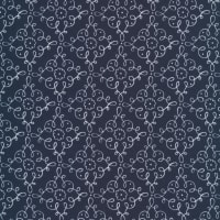 Cloud9 Fabrics Organic Wildflower Cotton Flourish Navy