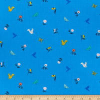 Cloud9 Organic Wildflower Cotton Frolic Blue Multi