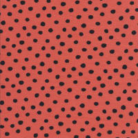 Cloud9 Organic Interlock Stretch Knit Dots Red/Black