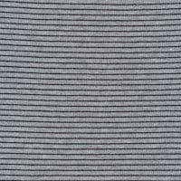 Cloud9 Organic Interlock Stretch Knit Little Stripes Heather Grey/Black