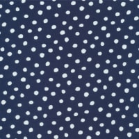 Cloud9 Organic Interlock Stretch Knit Dots Navy