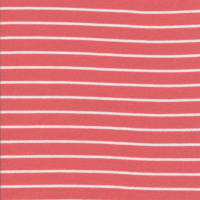 Cloud9 Organic Interlock Stretch Knit Stripes Red/White