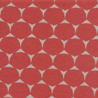 Cloud9 Organic Interlock Stretch Knit Decagon Red Grey