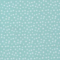 Cloud9 Organic Flannel Northerly Confetti Turquoise