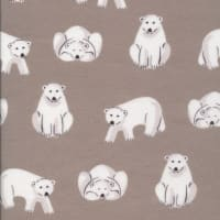 Cloud9 Organic Flannel Northerly Polar Bears Dark Gray