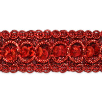20 Yards Trish Sequin Metallic Braid Trim Red