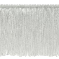 "20 Yards 4"" Stretch Chainette Fringe Trim White"