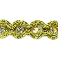 20 Yards River Sequin and Cord Trim Gold