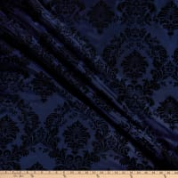 Flocked Damask Taffeta Navy/Black