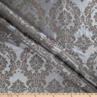 Flocked Damask Taffeta Grey