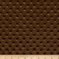 2 yard Minky Dot Precut Brown