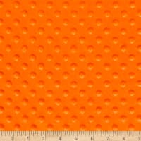 2 yard Minky Dot Precut Orange