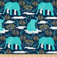 Nerida Hansen Organic Wildlife Treasures Elefant Blue