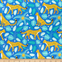 Nerida Hansen Organic Wildlife Treasures Leopards Bright