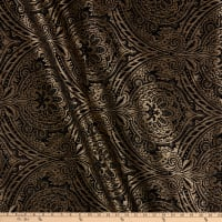 Damask Travesias Metallic Chenille Jacquard Black