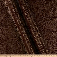 Damask Travesias Metallic Chenille Jacquard Wine