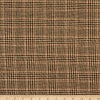 Fabric Merchants Wool Blend Woven Plaid Chocolate Brown/Cream/Rust