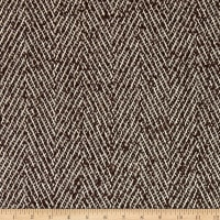 Fabric Merchants Wool Blend Woven Stitched Two Tone Brown/Ivory