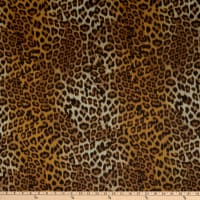 Fabtrends Hi Multi Chiffon Animal Leopard Gold