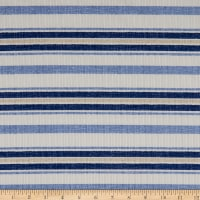 Fabtrends Rib Knit Stripe Blue/White