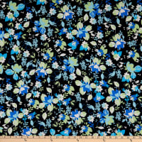 Fabtrends Dty Floral Blue