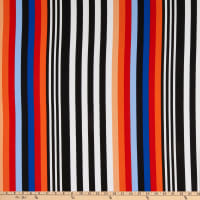 Fabtrends Washer Ghost Variegated Stripe Coral/Black/Blue