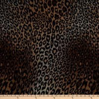 Fabtrends Melange Sweater Knit Stretch Animal Leopard Neutral