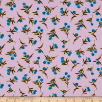 Fabtrends Washer Ghost Texture Crepe Small Floral Lavender Teal/Olive