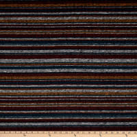 Fabtrends Melange Rib Horizontal Stripe Burgundy/Gold/Teal