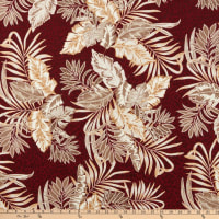 Fabtrends Dty Puff Palm Burgundy Taupe