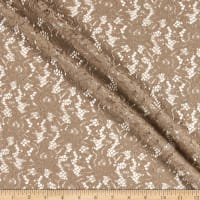 Fabtrends Crochet Lace Taupe