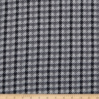Double Brushed Knit Houndstooth Grey/Black/White
