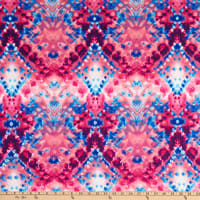 Double Brushed Knit Prints Blue/Pink/White