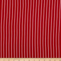 Double Brushed Knit Prints Stripes Red/White
