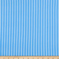 Double Brushed Knit Prints Stripes Blue/White
