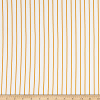 Double Brushed Knit Stripes White/Mustard