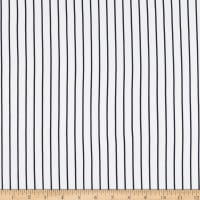 Double Brushed Knit Prints Stripes White/Black