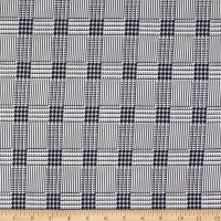 Double Brushed Knit Houndstooth Check White/Black