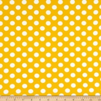Double Brushed Knit Prints Polka Dot Yellow/White