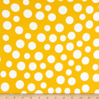 Double Brushed Knit Prints Dot Yellow/White