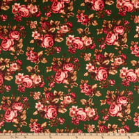 Techno Knit Prints Floral Green/Pink/Brown/Red