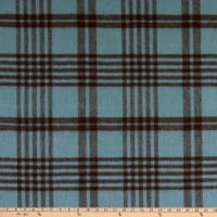 Alpaca Wool Flannel Angoura Blue/Brown