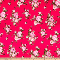 Techno Stretch Knit Prints Floral Bright Pink/Pink/Brown