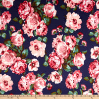 Techno Stretch Knit Prints Floral Blue/Pink/Green/Red