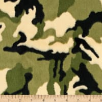 Shannon Minky Luxe Cuddle Camo Army